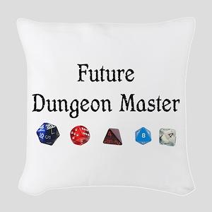 Future Dungeon Master Woven Throw Pillow