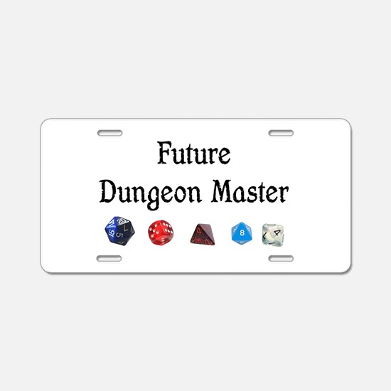 Future Dungeon Master Aluminum License Plate