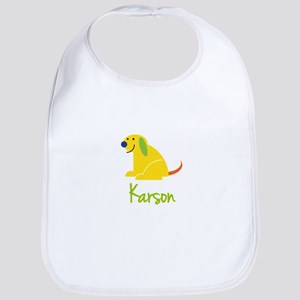 Karson Loves Puppies Bib