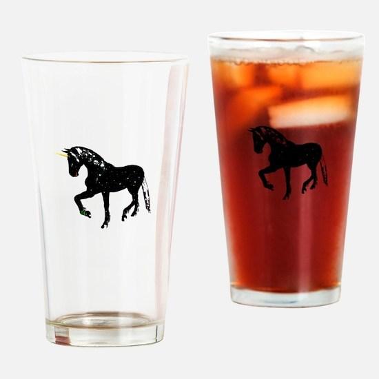 black unicorn sparkles Drinking Glass