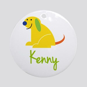 Kenny Loves Puppies Ornament (Round)