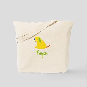 Keyon Loves Puppies Tote Bag