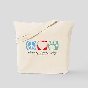 Peace-Love-Dog-2009 Tote Bag