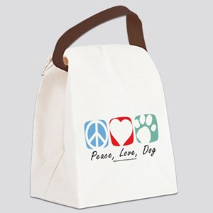 Peace-Love-Dog-2009 Canvas Lunch Bag