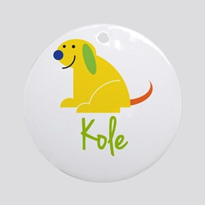 Kole Loves Puppies Ornament (Round)