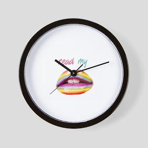Read my Lips Wall Clock