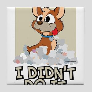 Boxer I Didnt Do It Tile Coaster