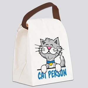 Cat Person Canvas Lunch Bag
