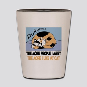 The More People I Meet Cat Shot Glass