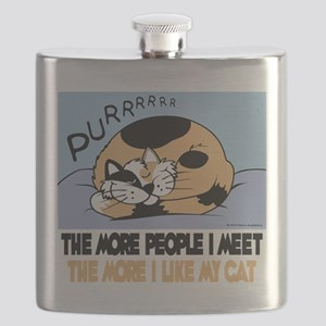 The More People I Meet Cat Flask
