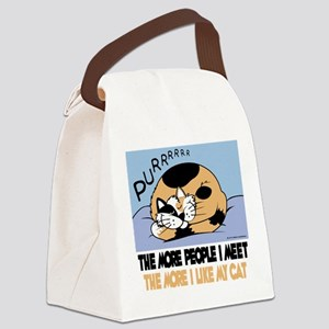 The More People I Meet Cat Canvas Lunch Bag