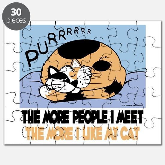 The More People I Meet Cat Puzzle