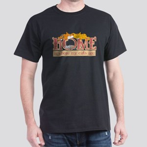 Home Is Where My Cats Are Dark T-Shirt