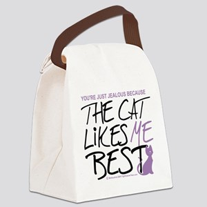 The-Cat-Likes-Me-Best Canvas Lunch Bag