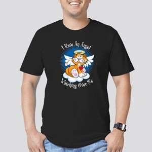 Angel Watching Over Me Orange Men's Fitted T-Shirt