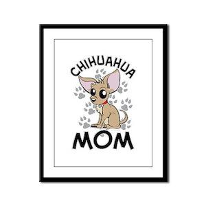 Chihuahua Mom Framed Panel Print