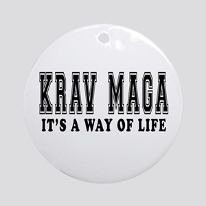 Krav Maga Is Life Ornament (Round)
