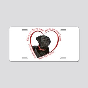 Lab Paw Prints Aluminum License Plate