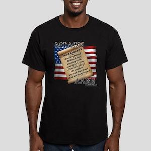 2A Molon Labe Men's Fitted Dark T-Shirt