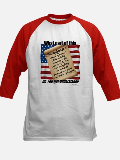 Second Amendment Kids Baseball Jersey