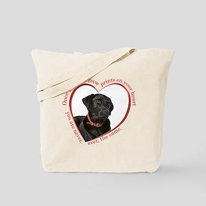 Lab Paw Prints Tote Bag
