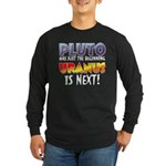 Pluto Uranus Long Sleeve Dark T-Shirt