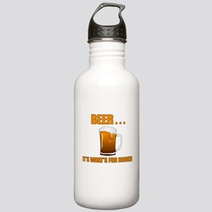 BEER ITS WHATS FOR DINNER Water Bottle