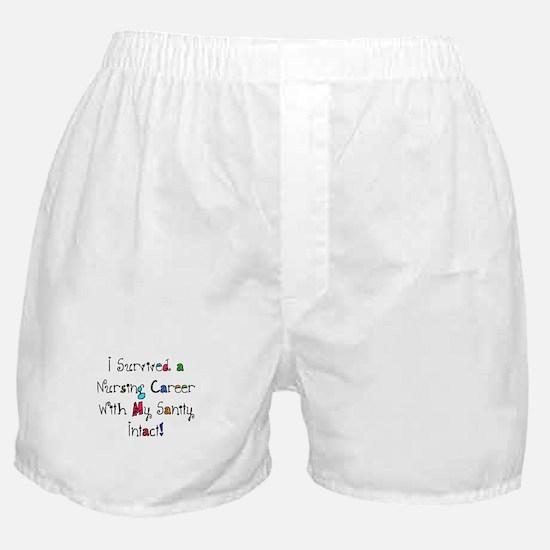 i survived nursing WORDS Boxer Shorts