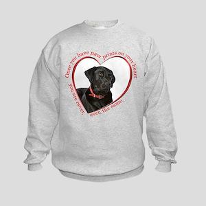 Lab Paw Prints Sweatshirt