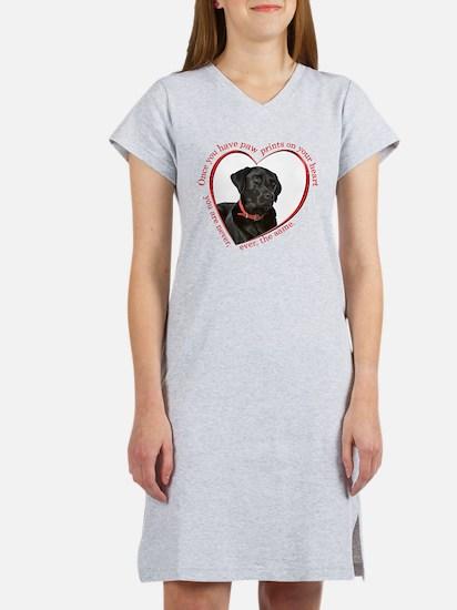Lab Paw Prints Women's Nightshirt
