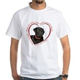 Black lab Mens Classic White T-Shirts