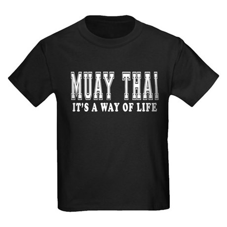 Muay Thai Is Life Kids Dark T-Shirt