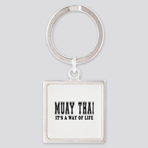 Muay Thai Is Life Square Keychain