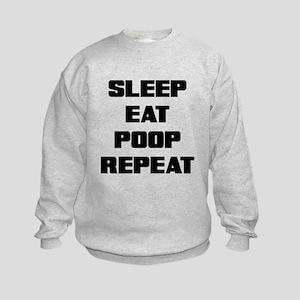 SLEEP EAT POOP REPEAT Sweatshirt