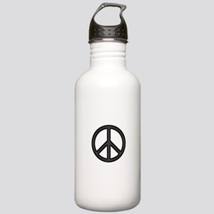 Round Peace Sign Water Bottle