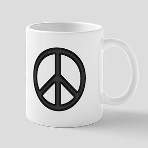 Round Peace Sign Mug