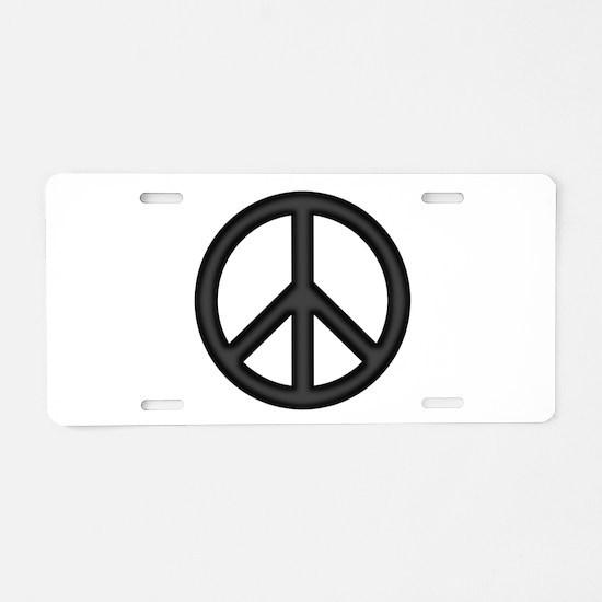 Round Peace Sign Aluminum License Plate