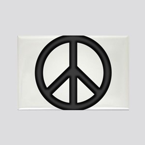 Round Peace Sign Rectangle Magnet