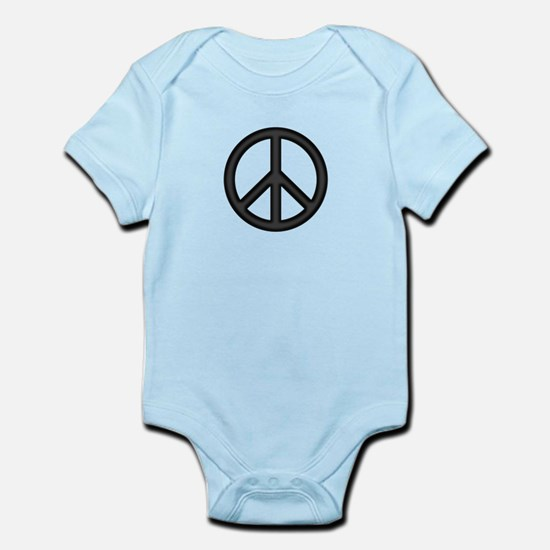 Round Peace Sign Body Suit