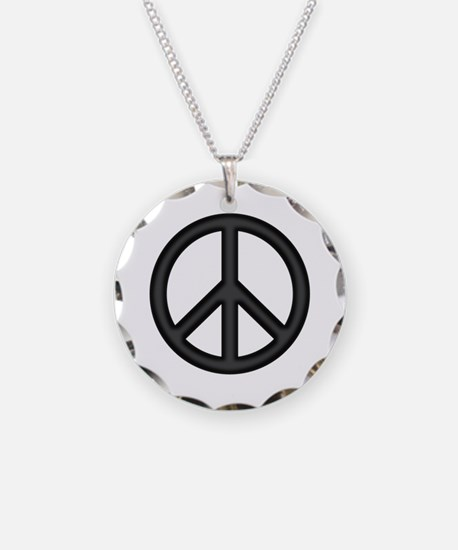 Round Peace Sign Necklace