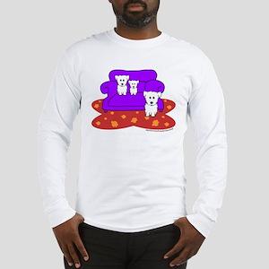 """Cozy Maltese"" Long Sleeve T-Shirt"