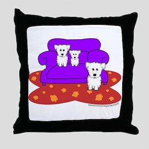"""""""Cozy Maltese"""" Throw Pillow"""