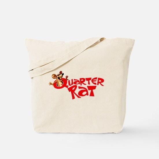 Retro Quarter Rat Magazine Logo Tote Bag