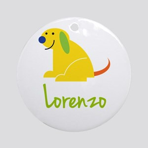 Lorenzo Loves Puppies Ornament (Round)