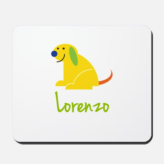 Lorenzo Loves Puppies Mousepad