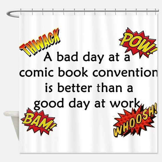 Comic Book Conventions Shower Curtain
