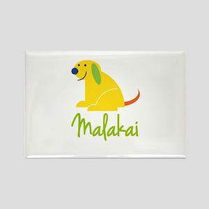 Malakai Loves Puppies Rectangle Magnet