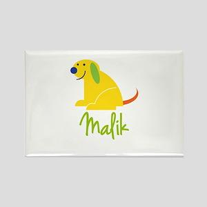 Malik Loves Puppies Rectangle Magnet