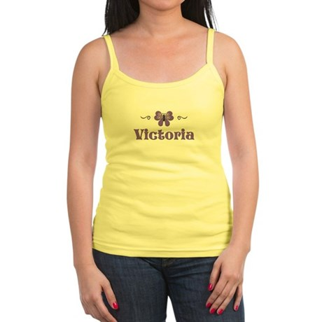 Purple Butterfly - Victoria Jr. Spaghetti Tank