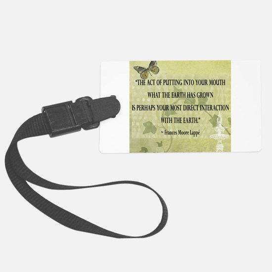 Interaction With The Earth Luggage Tag